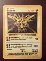 Pokemon Shadowless Base Set Zapdos 16/102 Holo Excellent - $33.25