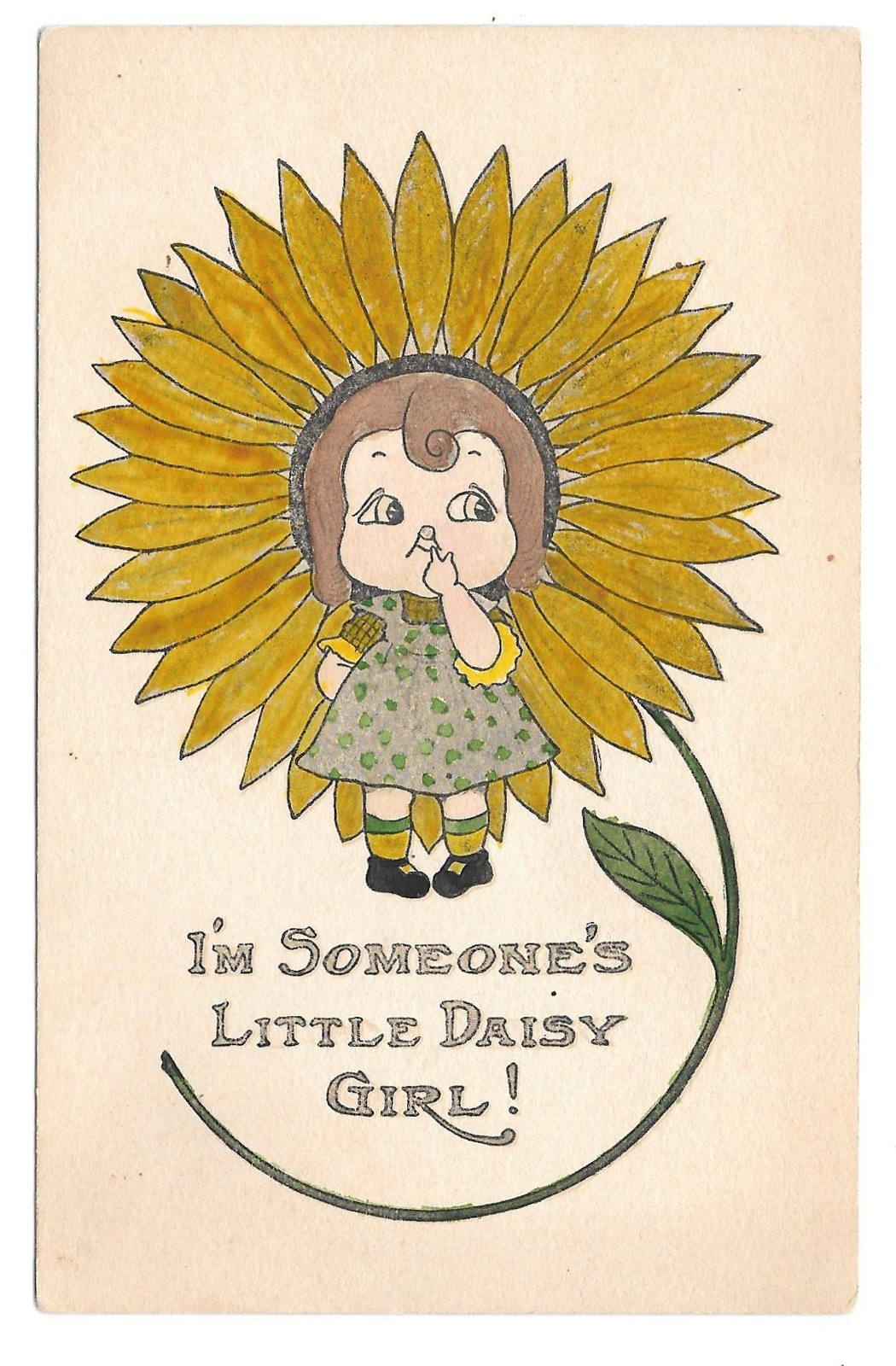 Primary image for Fantasy Flower I'm Someone's Little Daisy Girl Vintage Postcard