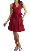 Fanmu Women's Sleeveless Chiffon Bridesmaid Dress Homecoming Cocktail Gowns R... - $149.99