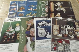 8 Alberta's Mold Inc. Ceramic Technique Sheets and 2 Bonus Sheets - $5.75