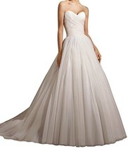 Fanmu Sweetheart A-line Tulle Wedding Dress Bridal Gowns Ivory US 22plus - $159.99