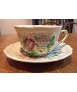 Royal Doulton Malvern D6197 Teacup Cup & Saucer Set - Fine English China - $15.07