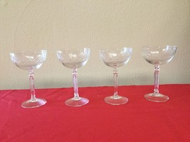 "Lot of 4 Etched Fostoria Sherbets - Holly Pattern - 5 1/2"" - $13.99"