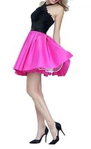 Fanmu Halter Beading Two Piece Short Prom Dresses Formal Evening Gowns Rose US 6 - $95.99