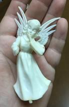 """Vintage Cake Topper - Angel - White Plastic - 4"""" - $4.99"""