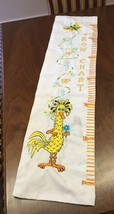 Vintage Big Bird Child's Growth Chart Embroider... - $13.99