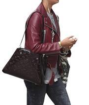 Jason Bourne Heather Lee Alicia Vikander Maroon Leather Jacket image 3