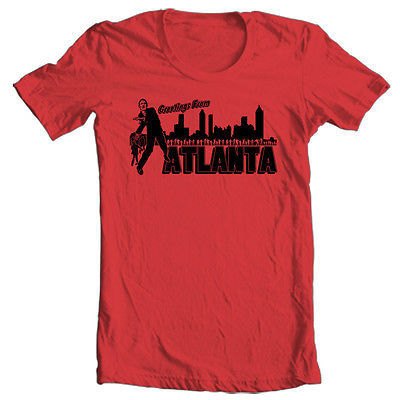 The Walking Dead Welcome Atlanta T shirt Zombie horror movie cotton graphic tee