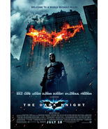 DARK KNIGHT ORIGINAL 27x40 MOVIE POSTER BUILDING ON FIRE STYLE  - $37.00