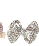 New - SILVER Bow Pave Ring - $15.00