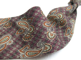 JOS A BANK Wool PAISLEY Made in ITALY 100 Mens neck tie s /426 - $18.79