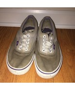 Vans off the wall shoes womens loafers Tan/Beige size 8.5 mens 7 - $19.80