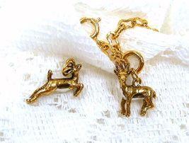 Joan Rivers Noah's Ark Gazelles Gold Tone Charm Extender Set Pair Couple... - $50.00