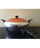 Mid Century Enterprises SK 400 Atomic Two Tone Flying Saucer Electric Sk... - $159.95