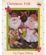 Christmas Folk, Dumplin Designs Soft Crafting Dolls Booklet SC 3 Santa M... - $7.69