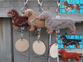 Dachshund Smooth dog crate tag or hang anywhere, handmade doxie, pick yo... - $18.00