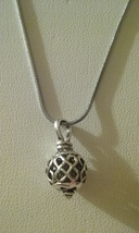 Beautiful Silver Swirl Design Pendant On Chain  - $5.99