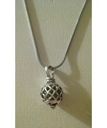 Beautiful Silver Swirl Design Pendant On Chain  - $6.99