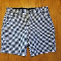 LEE Total Freedom Womens Size Medium Black & White Check Shorts Cotton Blend - $13.97