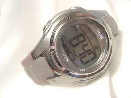 "L67, 1440 Sports by Time, Purple & Gray 8.5"" Silicon Band, Multi Functional - $15.83"