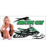 Arctic Cat Snowmobile Racing Snocross Garage Banner - Snow Chic #6 - $34.64