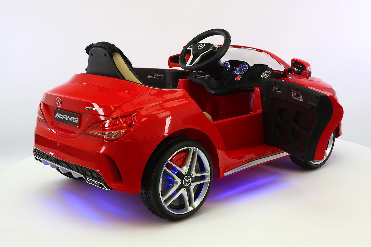 Mercedes benz cla45 ride on toy car powered wheels mp3 usb for Mercedes benz ride on toy car