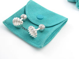 TIFFANY & CO. ~ SOLID SILVER CUFF LINKS ~ NAUTICAL COLLECTION ~ RARE  ~ ... - $479.99