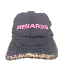 Womens Menards Pink Camo Hunting Cotton Baseball Hat Cap Adjustable - $11.01