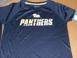Pitt Panthers Youth  Small Navy Blue / White & Gold Tee-NWT by Champion-... - $14.52
