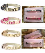 $80 Juicy Couture Dog Pet Collar-Limited Edition Gold Black Pink Snakesk... - $29.97