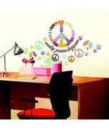 ADDHeres Patchwork Peace Sign Wall Stickers - $13.94