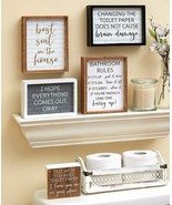 Funny Fun Bathroom Wall Art Prints Farmhouse Decor Quotes Signs Picture ... - $6.29+