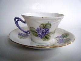 B R C Racine Bavaria Porcelain Violet Pattern T... - $9.85