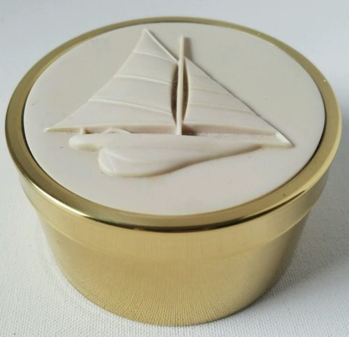 Partylite Sailboat Brass Tin Candle Holder and 50 similar items