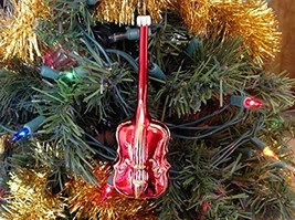 Red Violin Hand Painted Glass Ornament