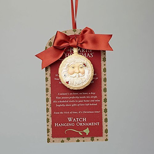 Enesco Heart of Christmas Santa s Watch Ornament 2.17 IN