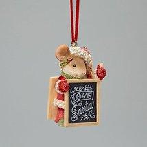 Enesco Heart of Christmas Love Santa Mouse Ornament 1.97 IN