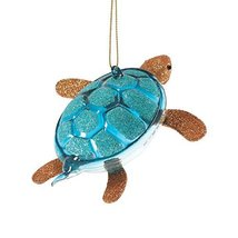 Department 56 Gone to The Beach Glittered Turtle Ornament