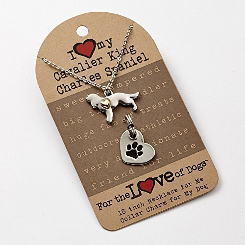 I love My Cavalier King Charles Spaniel Necklace and Dog Collar Charm