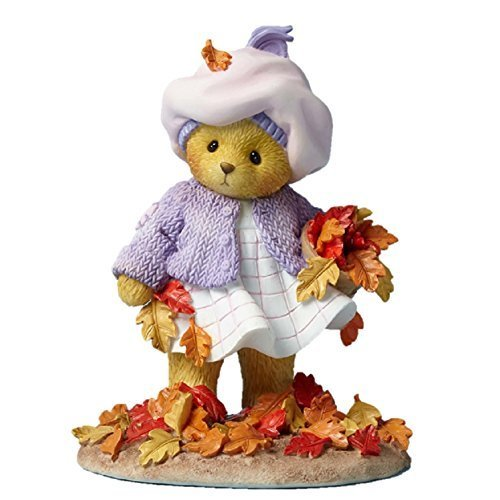 Enesco Cherished Teddies Collection Bear Picking Up Leaves Figurine, 4.125""