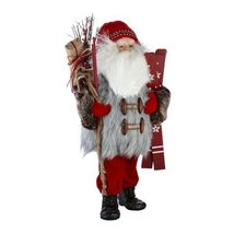 Department 56 Claus Woodland Santa Figurine, 18-Inch
