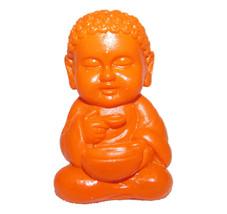 Pocket Buddha Orange Health Buddhism Mini Figure Figurine Toy - $4.99