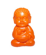 Pocket Buddha Orange Health Buddhism Mini Figure Figurine Toy - $4.99