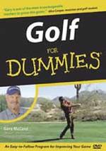 DVD-GOLF FOR DUMMIES - $16.78