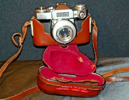 Zeiss Ikon Contaflex Super Camera with hard leather Case AA-192011 Vintage image 4