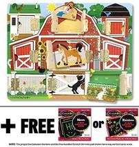 Farm: Hide & Seek Wooden Magnet Activity Board + FREE Melissa & Doug Scratch ... - $19.55