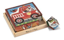 2 Item Bundle: Melissa & Doug 772 Vehicles Cube Puzzle + Free Activity Book - $31.23