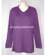 Jessica Holbrook Luxury Blend Vneck Tunic Sweater Small from QVC - $19.33