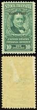 RD328, Mint NH $10 Stock Transfer Stamp in Green Cat $190.00 - Stuart Katz - $140.00