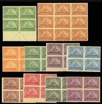 RB20//29, Ten Mint Blocks of Proprietary Stamps Cat $398.00 - Stuart Katz - $295.00